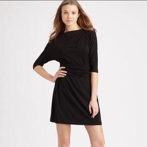 Theory Ivista Gathered Black Dolman Sleeve Dress!